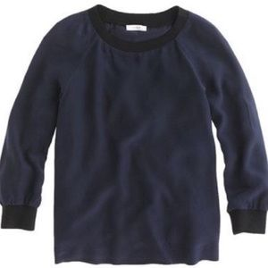 J. Crew Silk Pullover Blouse Long Sleeve Top